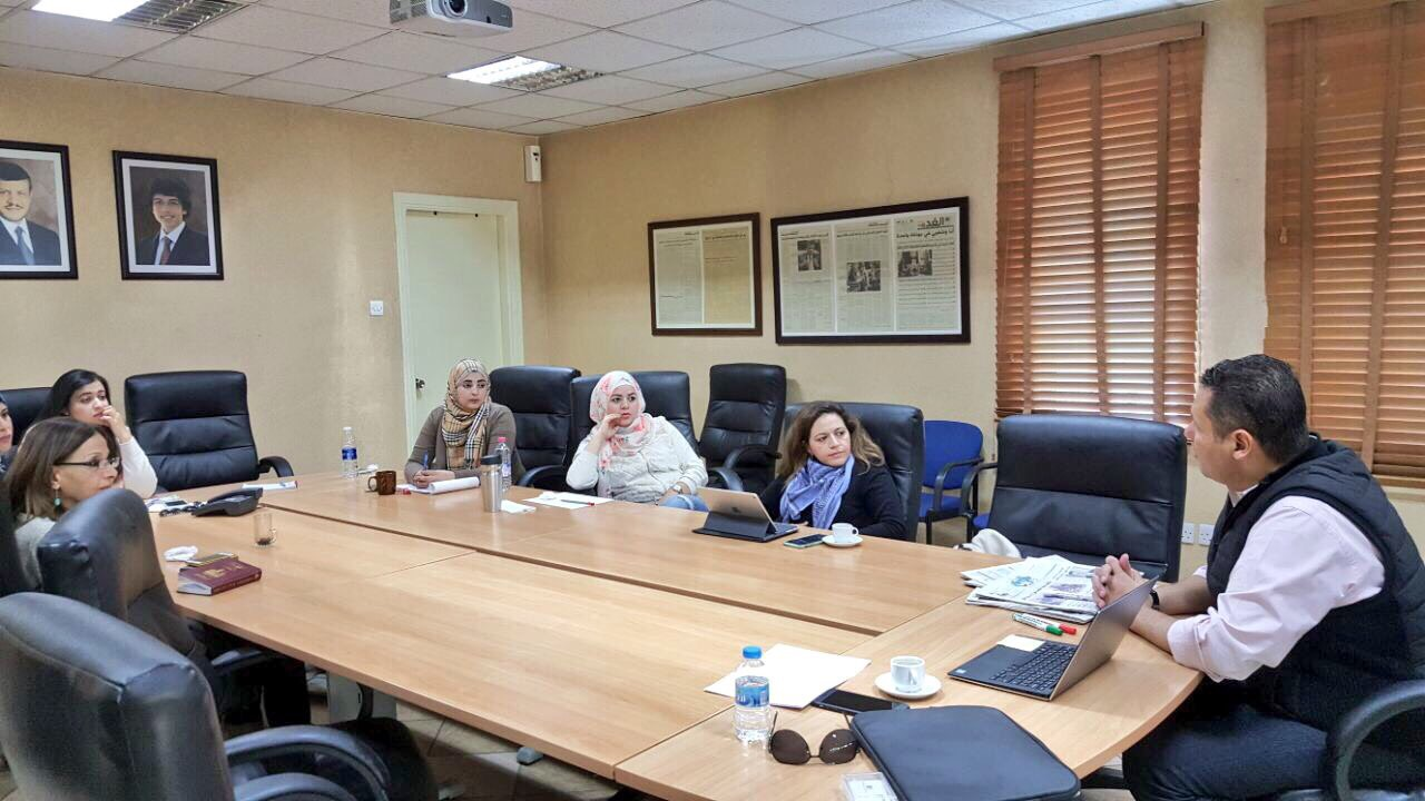 Training for Al Ghad newspaper journalists